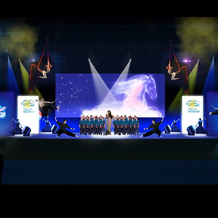 ARC Jocket Club Opening Ceremony, HK Uniplan 2014. Performance and show direction