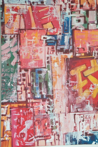 HK graffitis / acrylic on wood / 2009