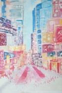 HK street / Acrylic on wood / 2010