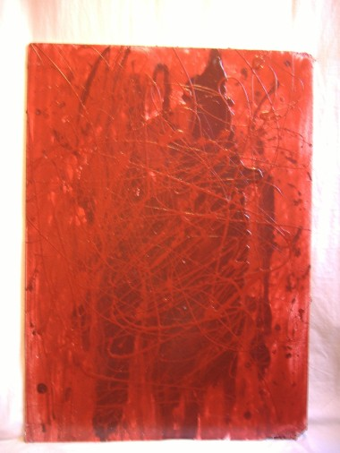 Orlando red / Glycera on wood / 2008