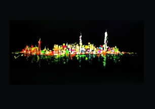 HK bay View / Acrylic on wood / 2012