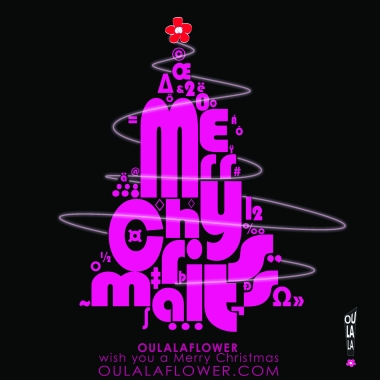 OULALAFLOWER advertisement 2012, Christmas greeting