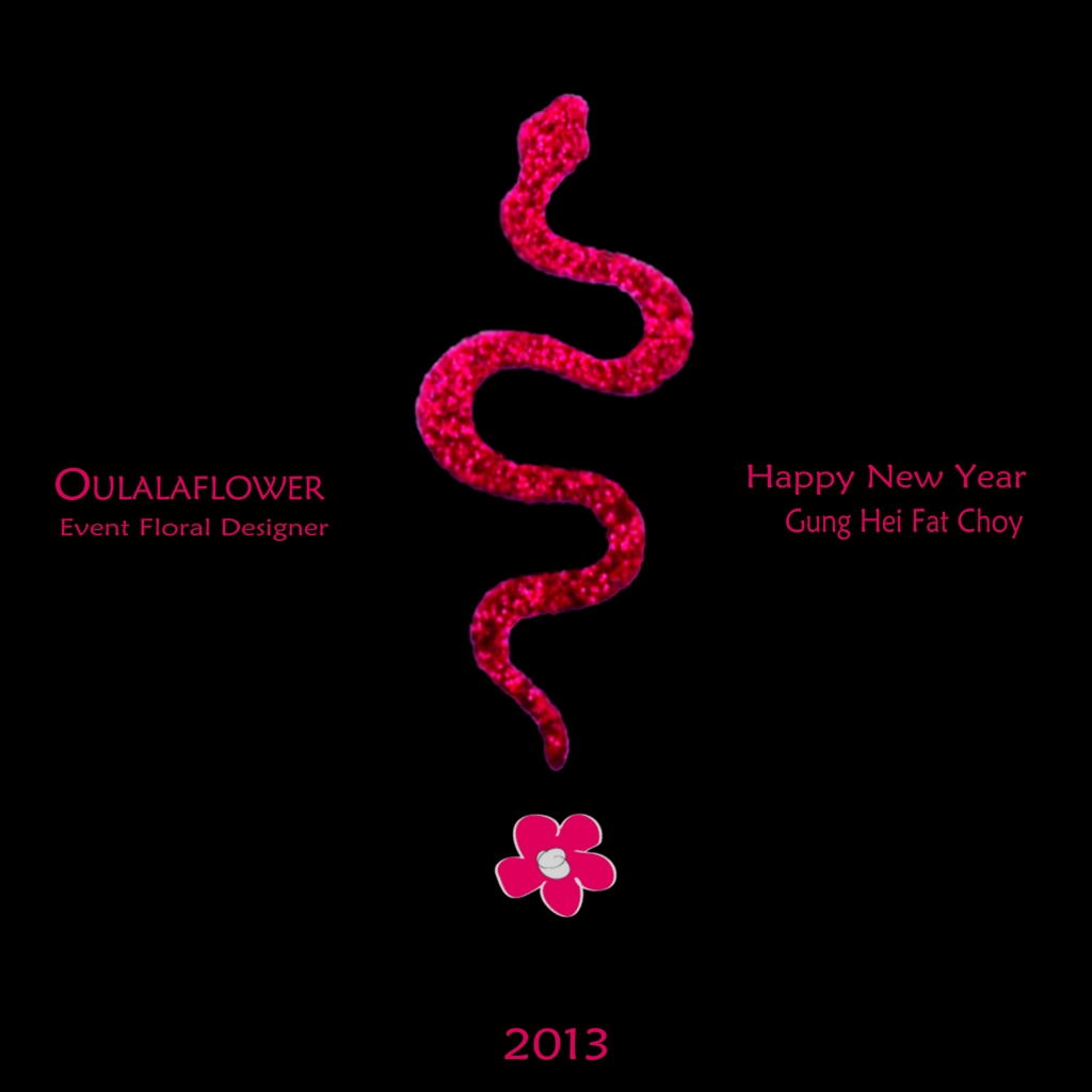 OULALAFLOWER advertisement 2013,  Snake year