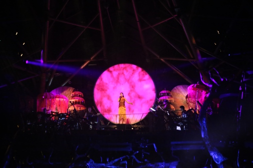 Dai Show Xishuangbanna China 2015 LED Yunnan Drums Design and Production Set Design decoration