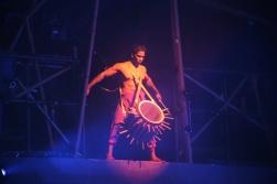Dai Show Xishuangbanna China 2015 LED Yunnan Drums Design and Production