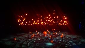 100 Lanterns bamboo stick and Turtle lantern Staging . Han Show Wuhan 2014
