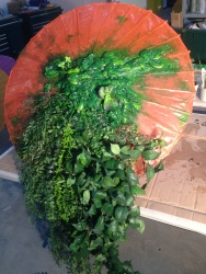 Dai Show Xishuangbanna China 2015 Foliage Umbrella . A/B foam and foliage / diamonds