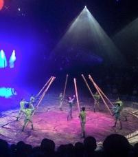 Dai Show Xishuangbanna China 2015 Bamboo Army LED Umbrellas