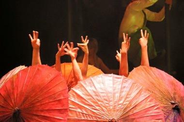 Dai Show Xishuangbanna China 2015 LED Umbrellas