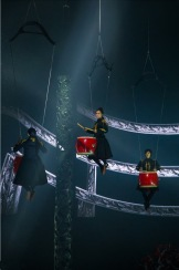 Flying drums Han Show Wuhan China 2014