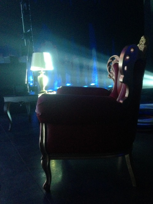 KIRKOROV TOUR 2016 by FRANCO DRAGONE; Moscou Russia. Props design and management Furnitures armchair, lamp and props