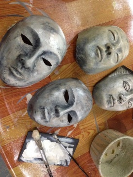 Mannequins Mask painting