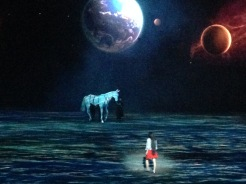 White horse puppet Han Show Wuhan China 2014