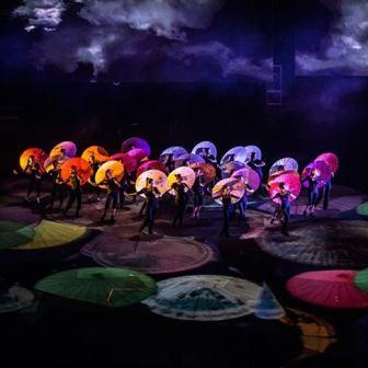 Umbrellas Scene Han Show Wuhan 2014