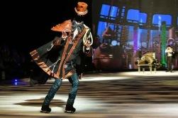 Headless Man collaboration with Mickael Sharp costume designer Puppet Holiday on Ice Atlantis show creation 2017