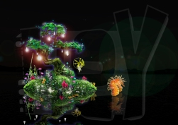 FLOATING Island concept and illustration / SOKOL SHOW Prod / Wanda Co. China
