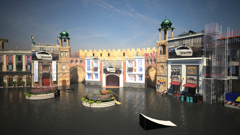 STUNT SHOW HAIKOU SET DESIGN