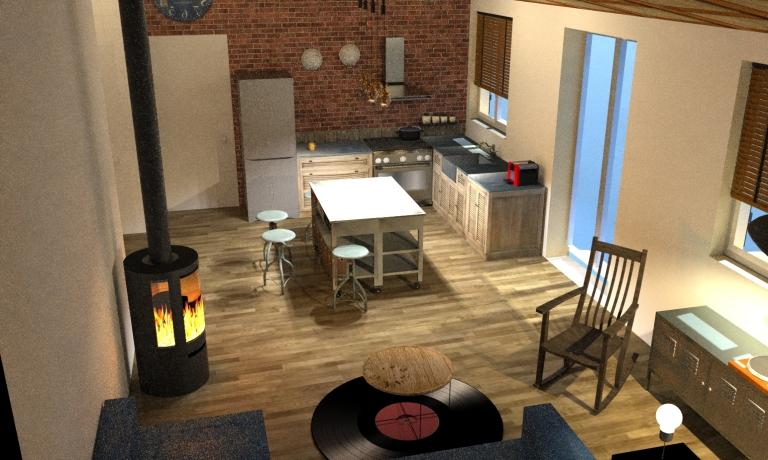 house 90 deco-SOFA view